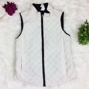 Croft & Barrow White Classic Quilted Vest Size S